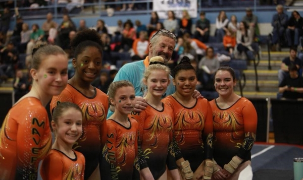 Maverick Gymnastics Slider for WV Level 9's 2108 STATE CHAMPIONS TEAM