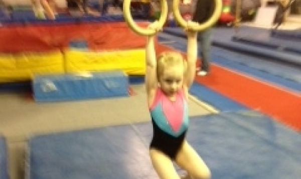 Maverick Gymnastics Slider for Pre-school on the rings
