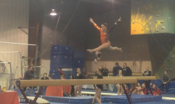 Maverick Gymnastics Slider for Miss Mullins  Split Jump