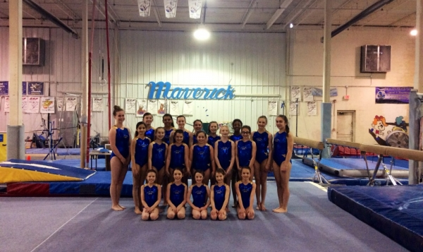 Maverick Gymnastics Slider for Maverick Girls Team
